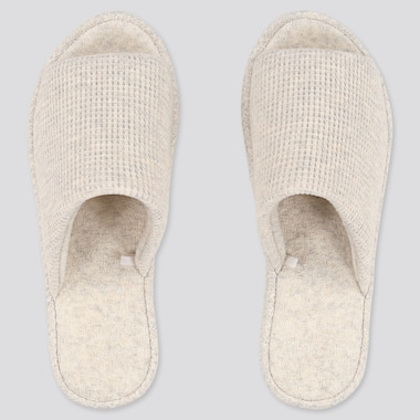 Waffle Slippers, Light Gray, Medium