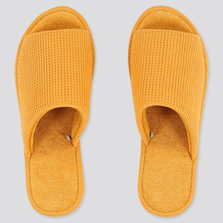 Waffle Slippers, Yellow, Large