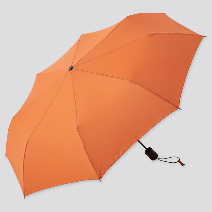 Compact Umbrella, Orange, Large