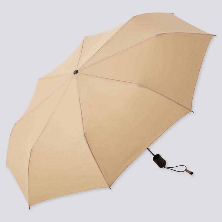Compact Umbrella, Beige, Large