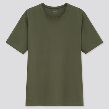 Men AIRism Cotton Crew Neck Short Sleeved T-Shirt