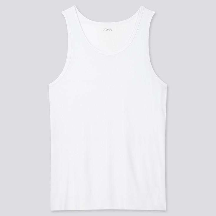 Men Airism Micro Mesh Tank Top, White, Large