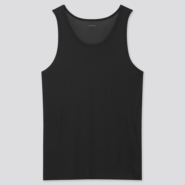 Men Airism Micro Mesh Tank Top, Black, Large
