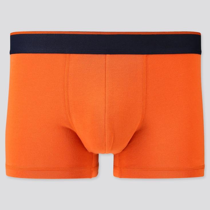 Men Supima® Cotton Low-Rise Boxer Briefs, Orange, Large