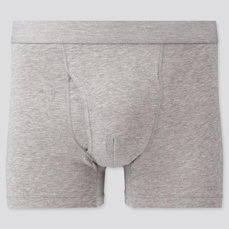 Men Supima® Cotton Boxer Briefs, Gray, Large