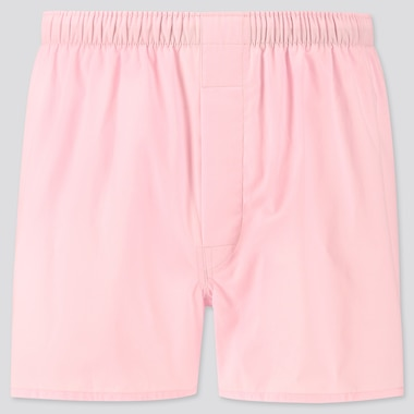 Men Woven Broadcloth Boxers, Pink, Medium