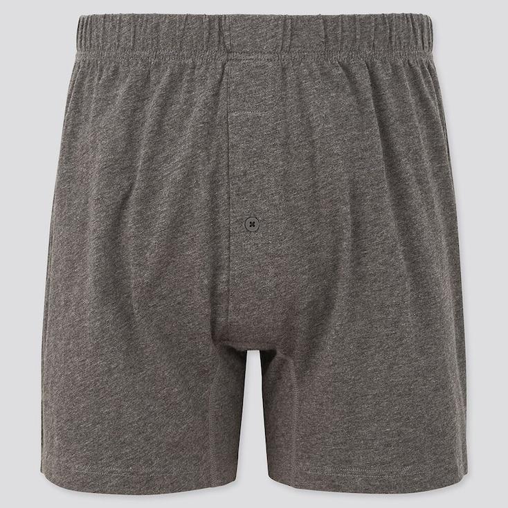 Men Knit Boxers, Gray, Large