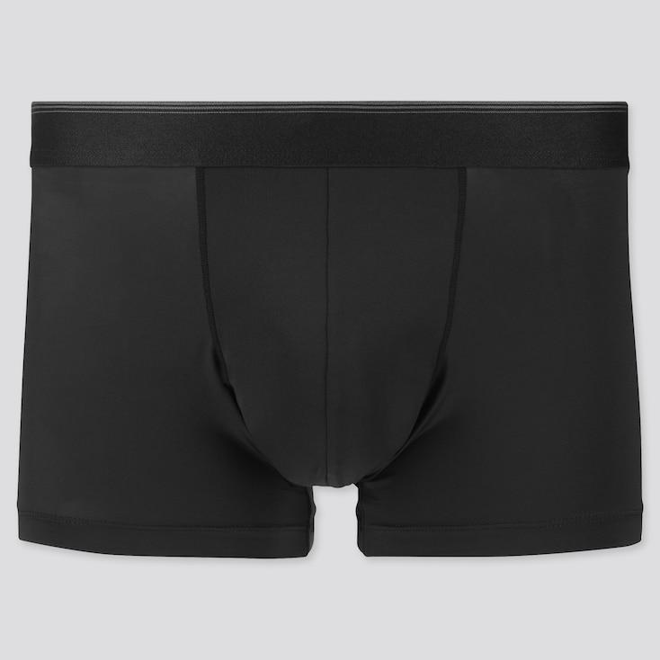 Men Airism Low-Rise Boxer Briefs, Black, Large