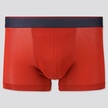 Men Airism Low-Rise Boxer Briefs, Red, Medium