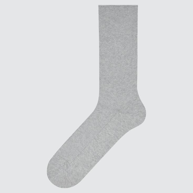 Men Supima© Cotton Pique Socks, Gray, Large