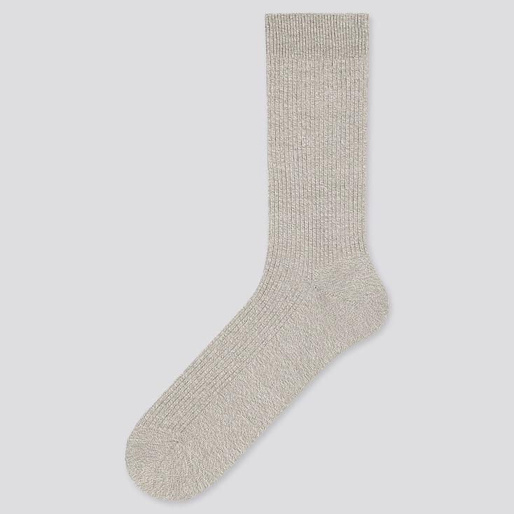 Men Color Socks, Light Gray, Large