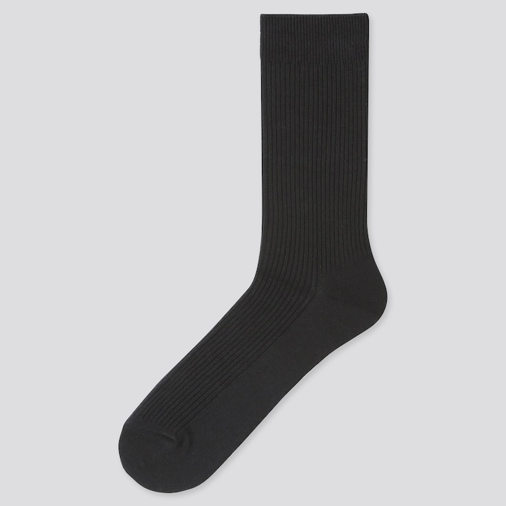Men Color Socks, Black, Large