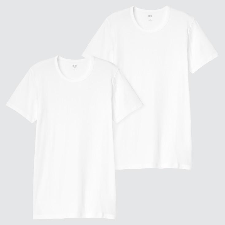 Men Supima® Cotton Short-Sleeve T-Shirt (Set Of 2), White, Large