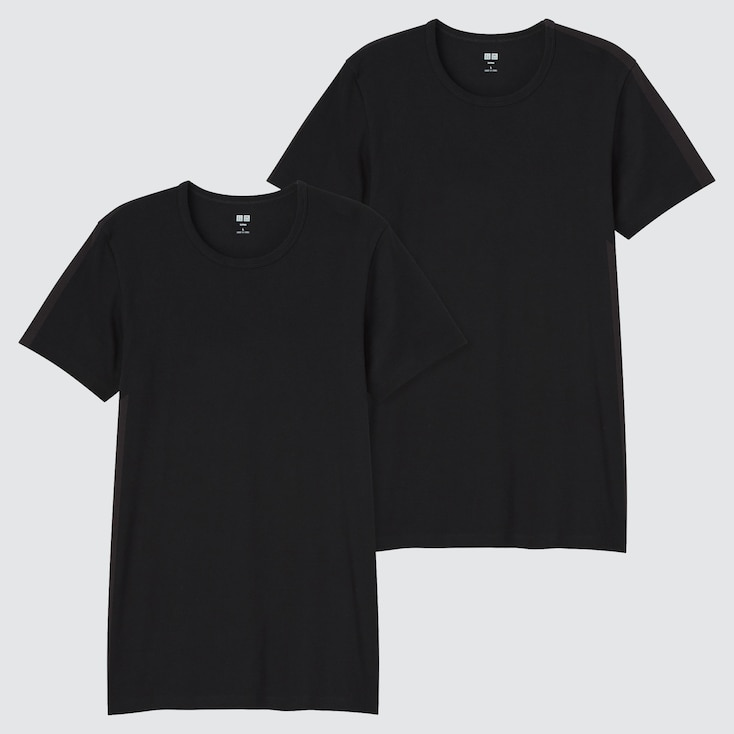 Men Supima® Cotton Short-Sleeve T-Shirt (Set Of 2), Black, Large