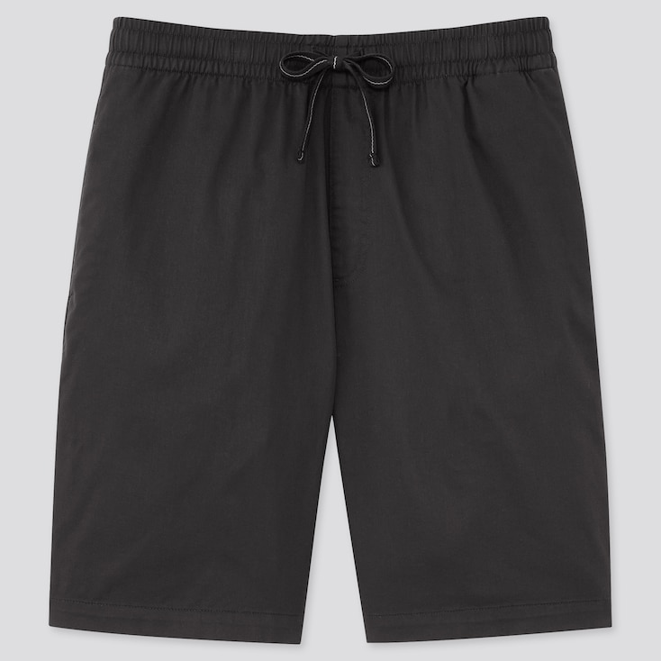 Men Dry Stretch Easy Shorts, Black, Large