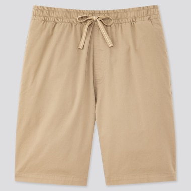 Men Dry Stretch Easy Shorts, Beige, Medium