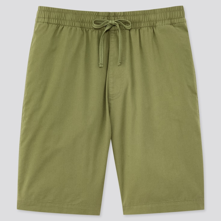Men Dry Stretch Easy Shorts, Olive, Large