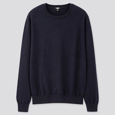 Pull En Coton Supima Col Rond Homme
