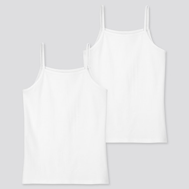 Kids Cotton Inner Camisole Tops (Two Pack)