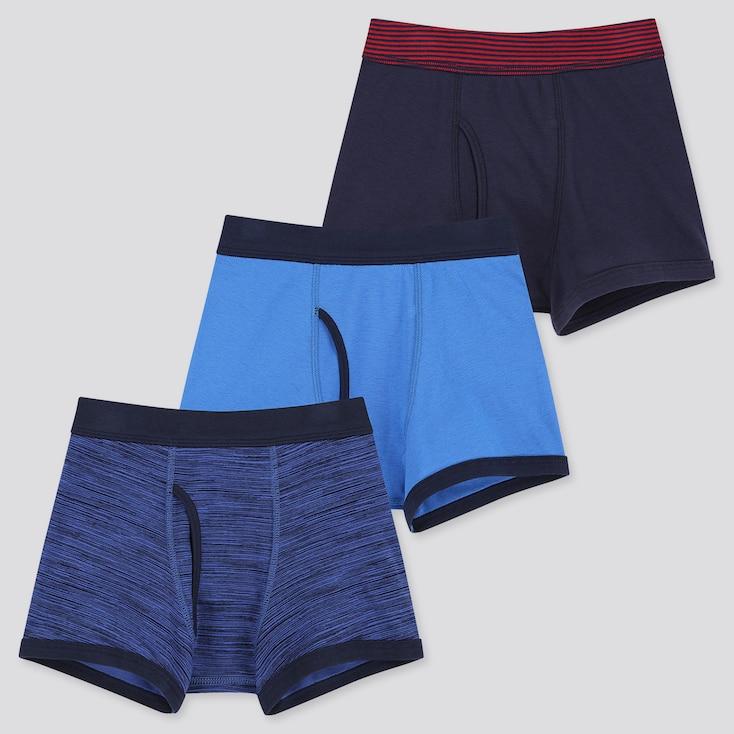 Boys Boxer Briefs (Set Of 3), Blue, Large