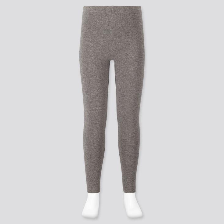 Girls Leggings, Dark Gray, Large