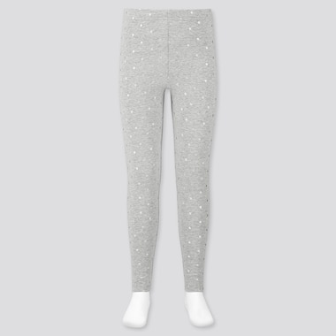 Girls Leggings, Gray, Medium