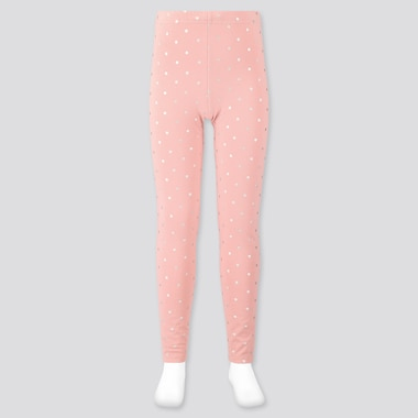 Girls Leggings, Pink, Medium