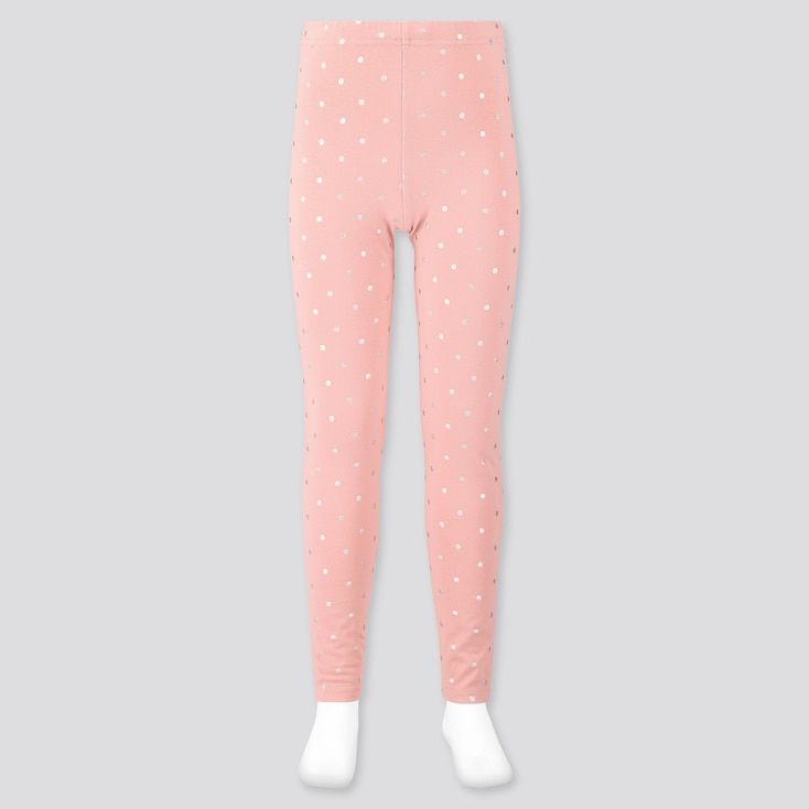 Girls Leggings, Pink, Large