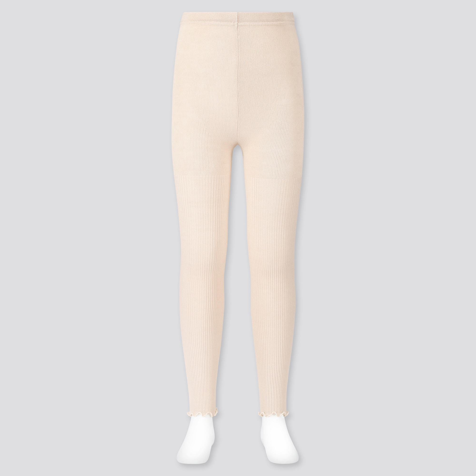 Uniqlo GIRLS RIBBED MELLOW ANKLE-LENGTH LEGGINGS