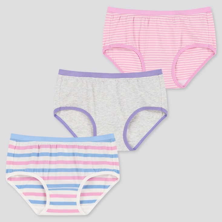Girls Briefs (Set Of 3), Blue, Large