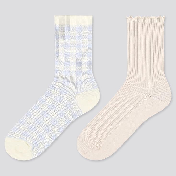Girls Regular Socks, Light Blue, Large
