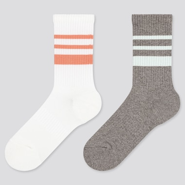 Girls Regular Socks (2 Pairs), White, Medium