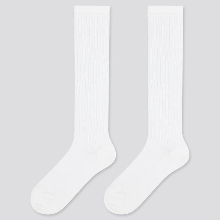 Kids High Socks (2 Pairs), White, Large