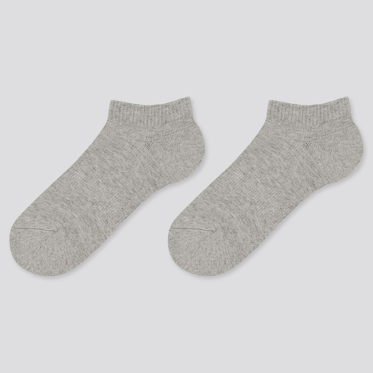 Kids Short Socks (2 Pairs), Gray, Large