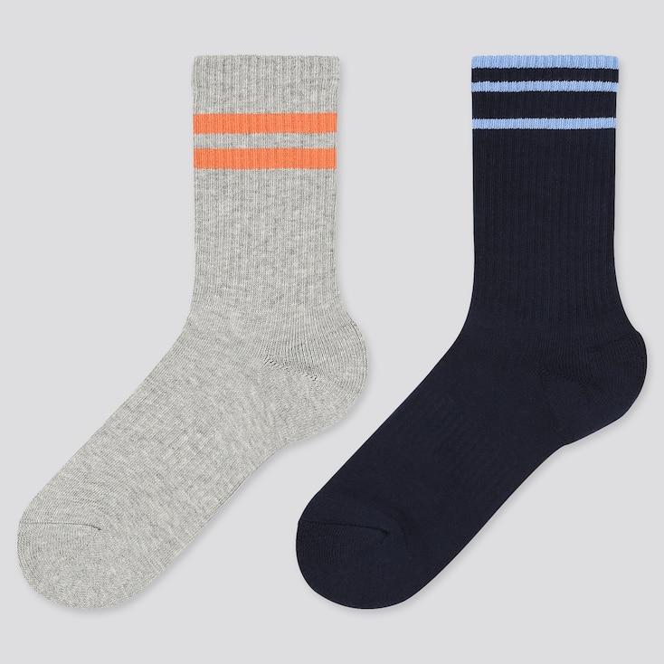 Kids Regular Socks, Orange, Large