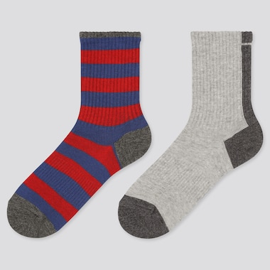 Kids Regular Socks, Dark Gray, Medium
