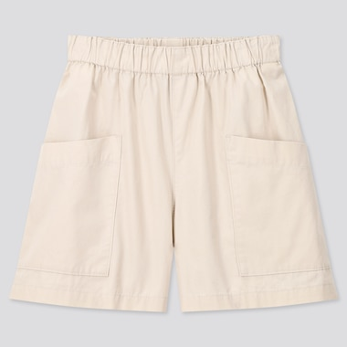 Girls Easy Shorts, Natural, Medium