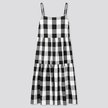 Girls Checked Camisole Dress