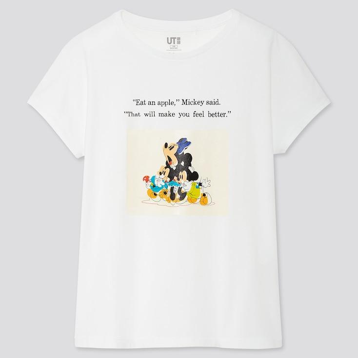 Girls Disney Stories Ut (Short-Sleeve Graphic T-Shirt), White, Large