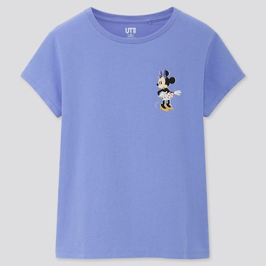 Girls Disney Stories Ut (Short-Sleeve Graphic T-Shirt), Blue, Medium