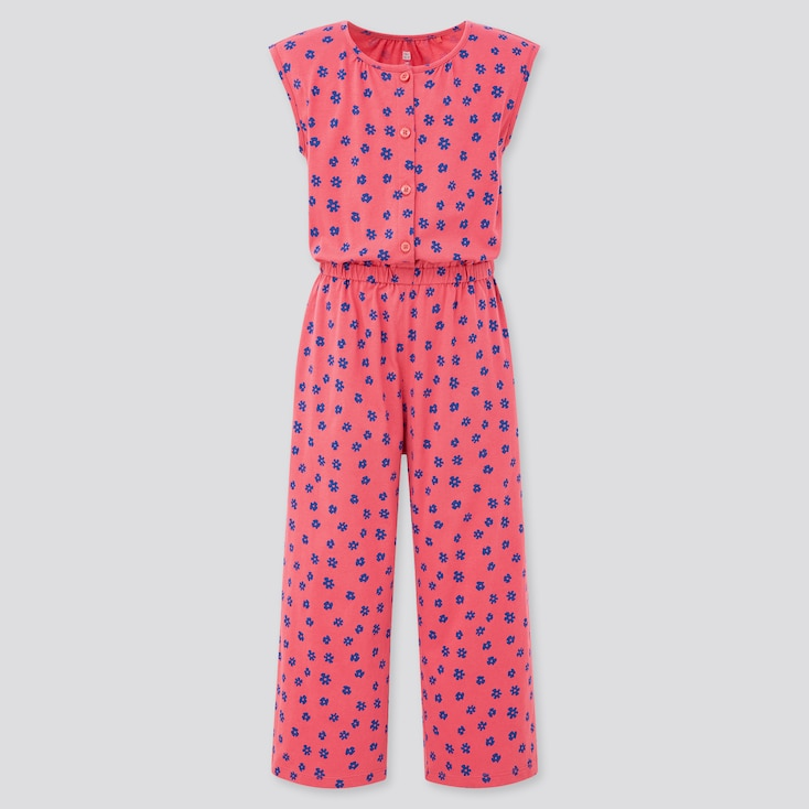 Girls Jersey Sleeveless Jumpsuit (Online Exclusive), Pink, Large