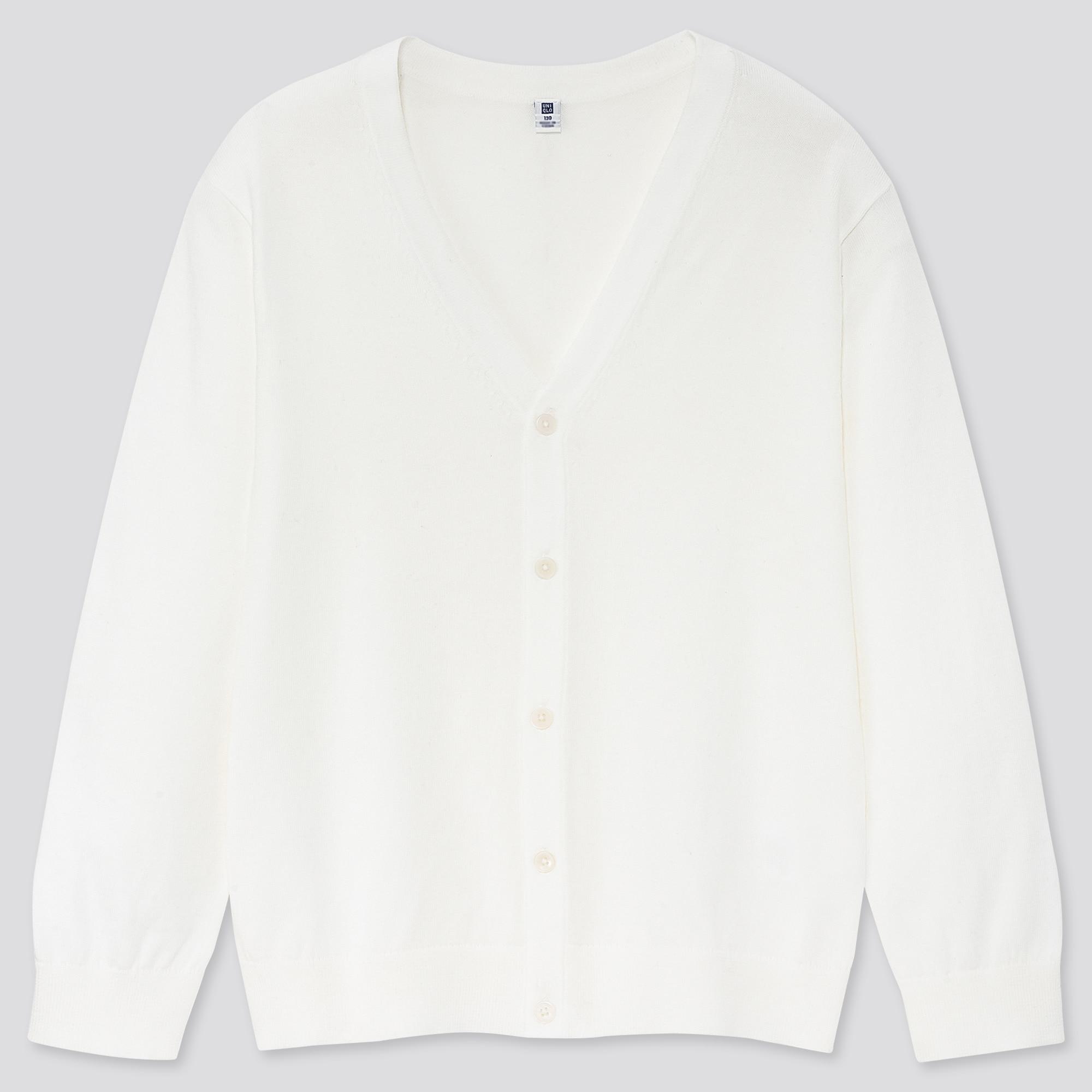 KIDS SUPIMA® COTTON UV PROTECTION V-NECK CARDIGAN