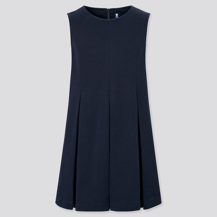 Girls Jumper Dress (Online Exclusive), Navy, Large