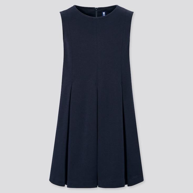Girls Jumper Skirt, Navy, Large