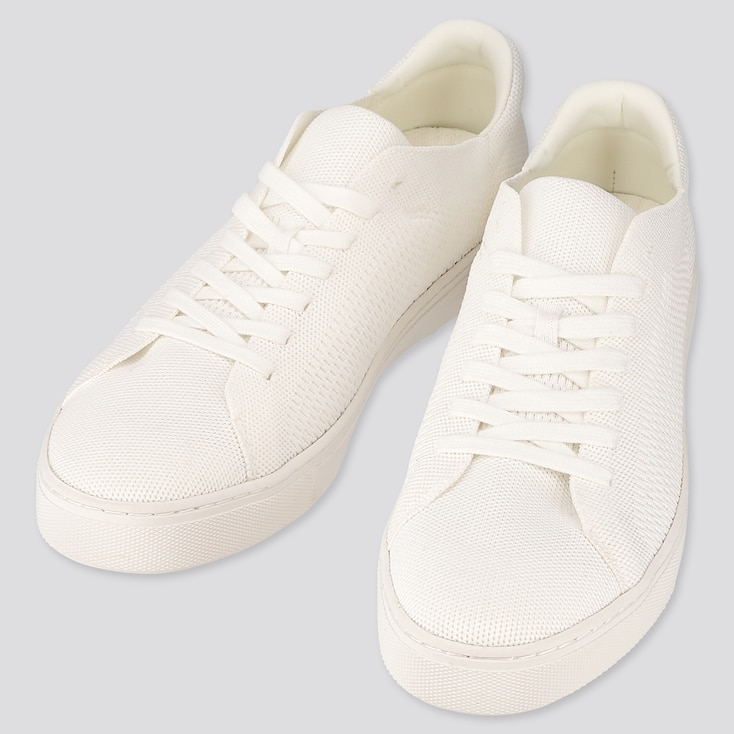 Men Knit Sneakers (Online Exclusive), Off White, Large