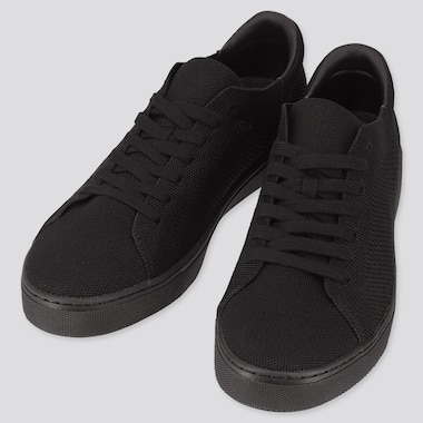 Men Knit Sneakers (Online Exclusive), Black, Medium