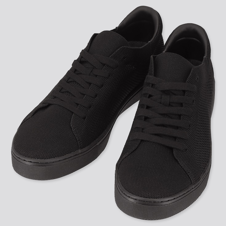 Men Knit Sneakers (Online Exclusive), Black, Large