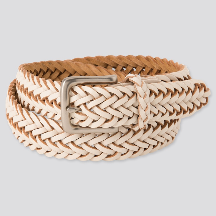 Leather Woven Belt by Uniqlo