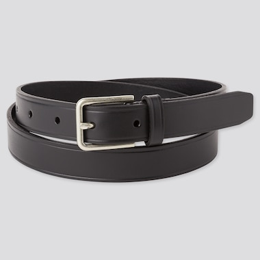 Men Italian Leather Narrow Belt