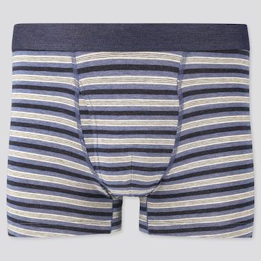 Men Supima® Cotton Striped Boxer Briefs, Blue, Medium